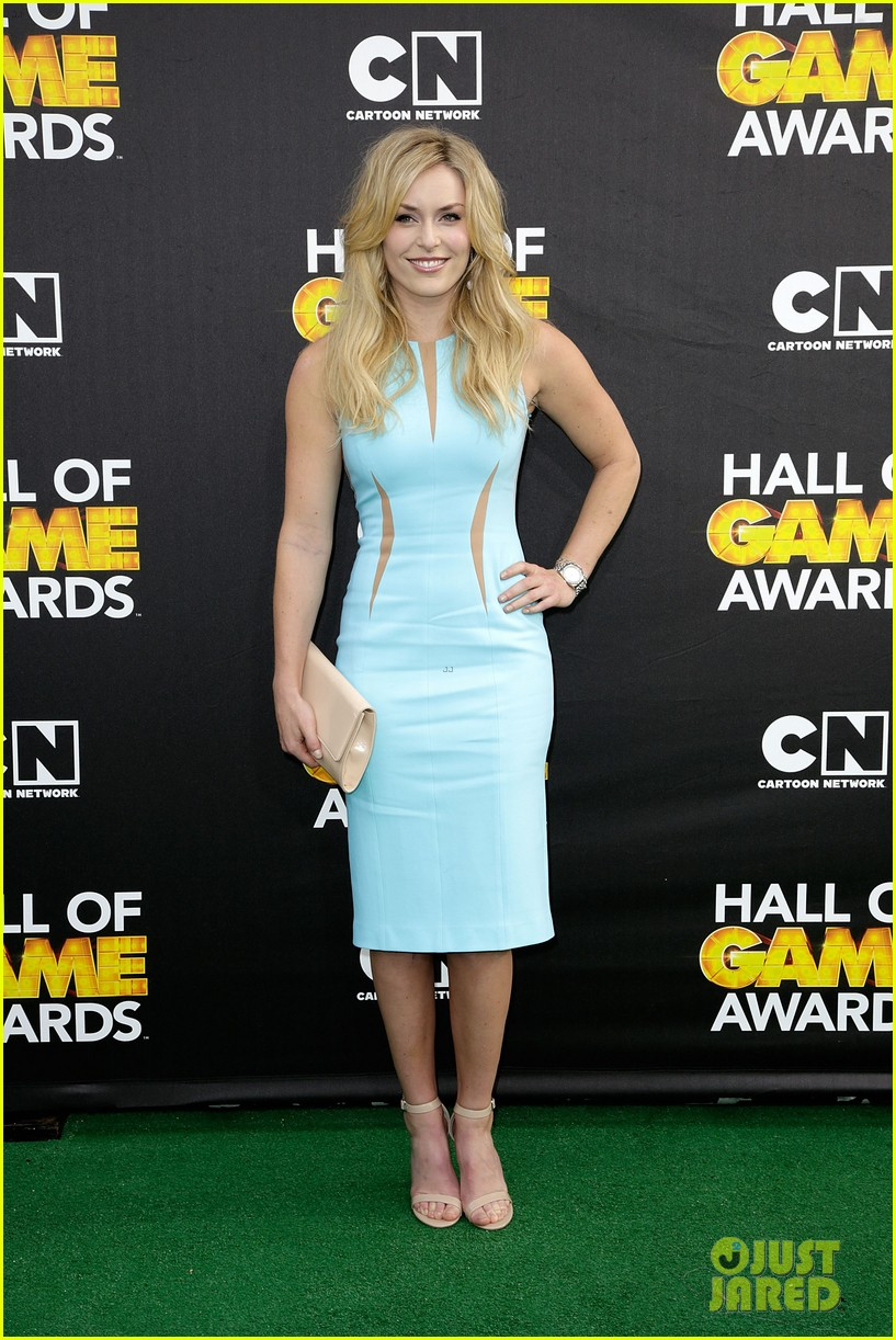 lindsey vonn colin kaepernick hall of game awards 2014 013054207