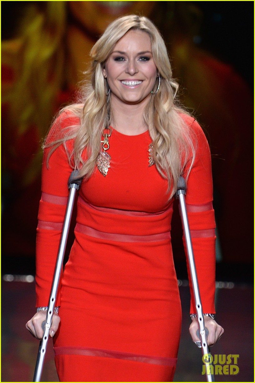 lindsey vonn skips olympics walks runway on clutches 10