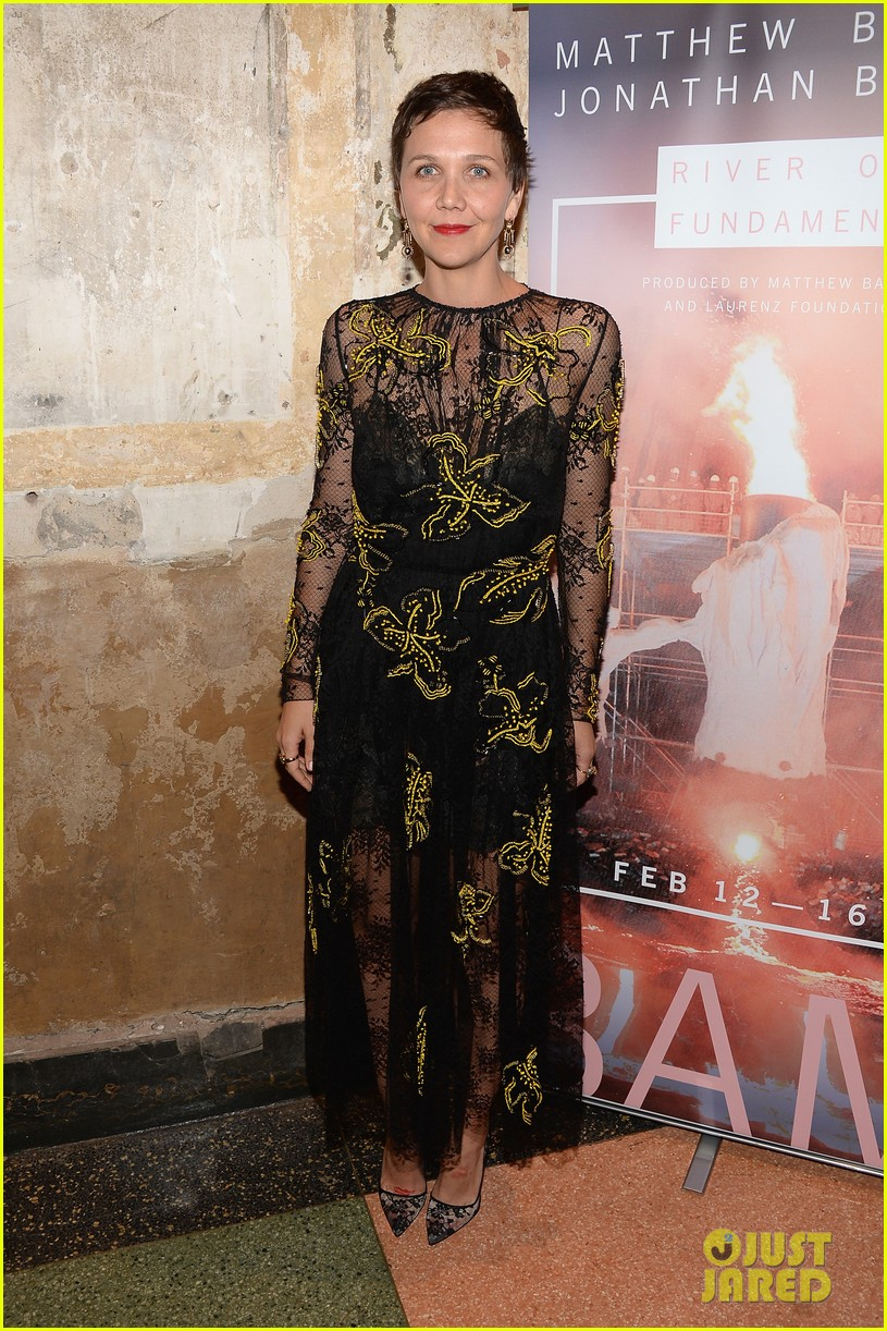 kkanye west maggie gyllenhaal river of fundament premiere 033052735