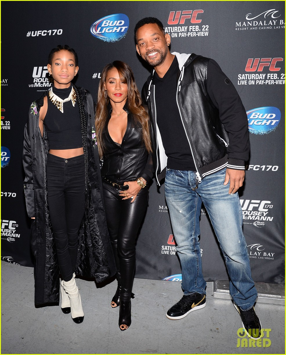 will smith wife jada pinkett ufc las vegas event with willow 033059079