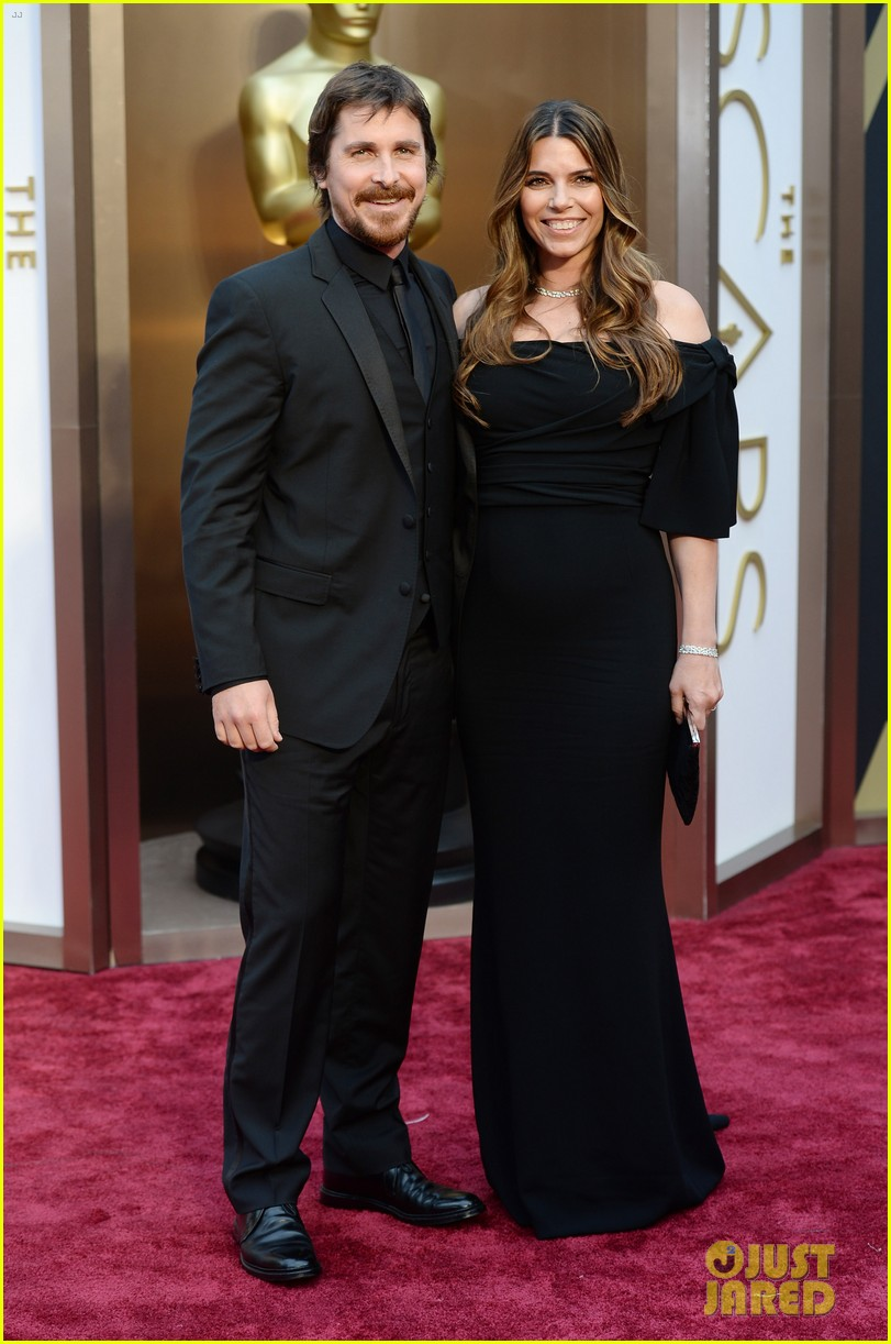 christian bale wife sibi blazic oscars 2014 red carpet 033063973