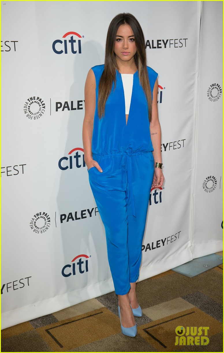 chloe bennet clark gregg promote agents of s h i e l d at paleyfest 143077618
