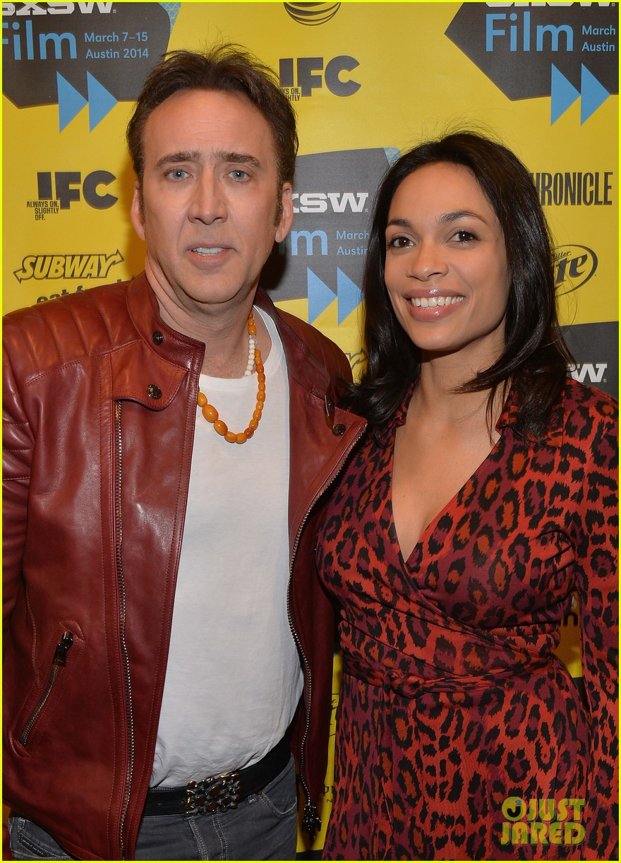 rosario dawson nicolas cage support joe at sxsw 2014 12