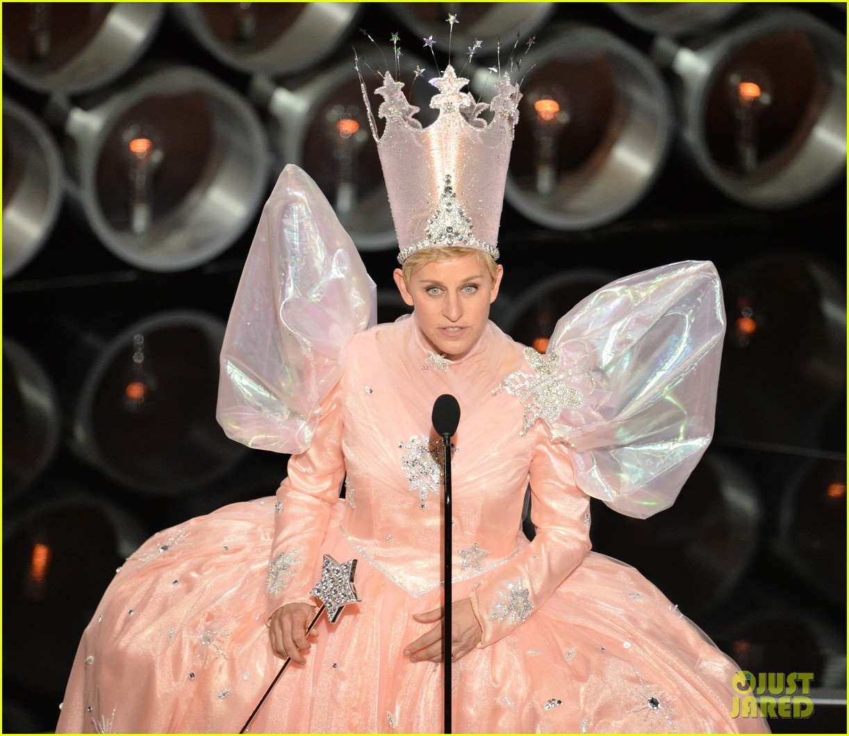 ellen degeneres is wizard of ozs glinda at oscars 2014 video 023064230