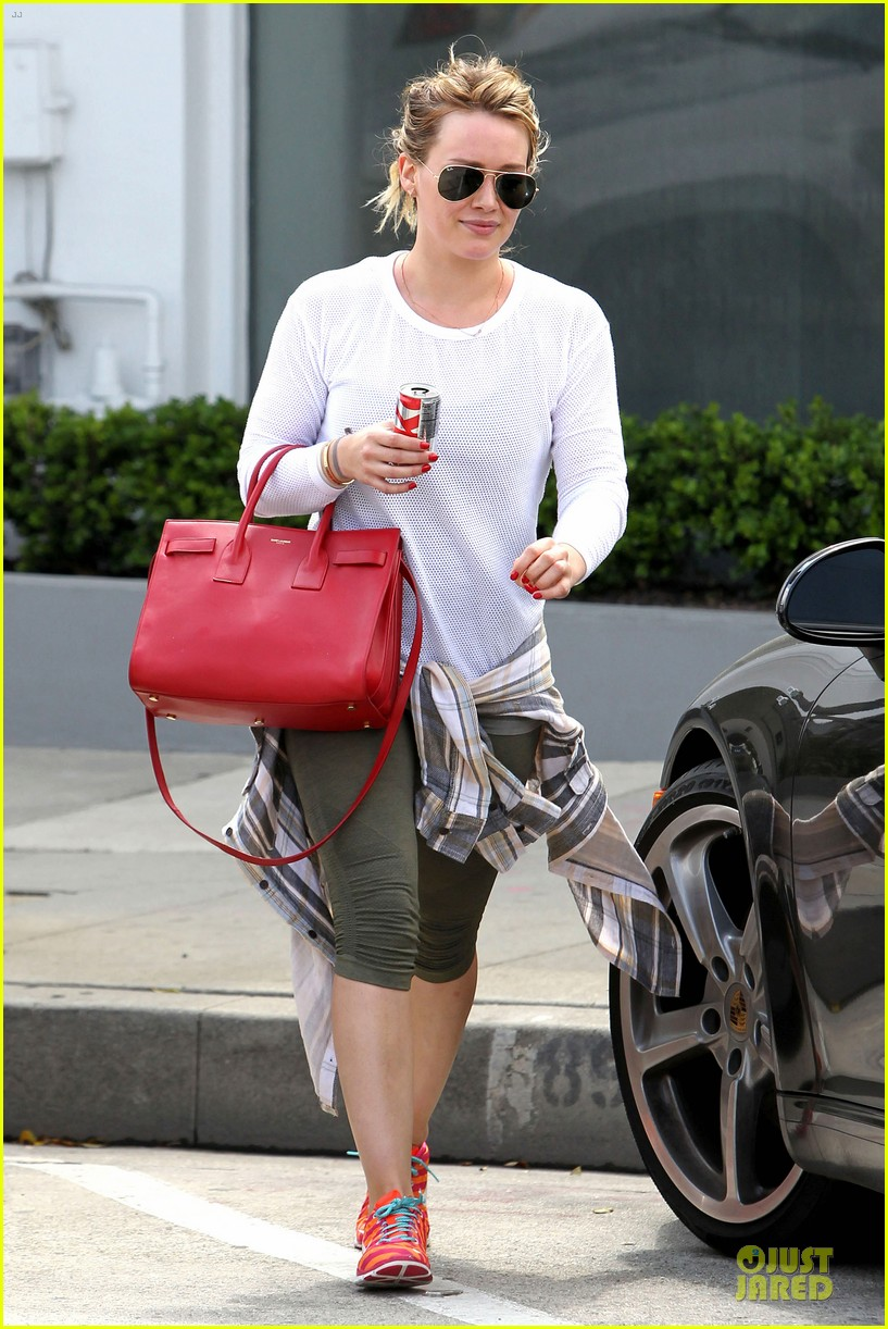 hilary duff stylish with red 163076531