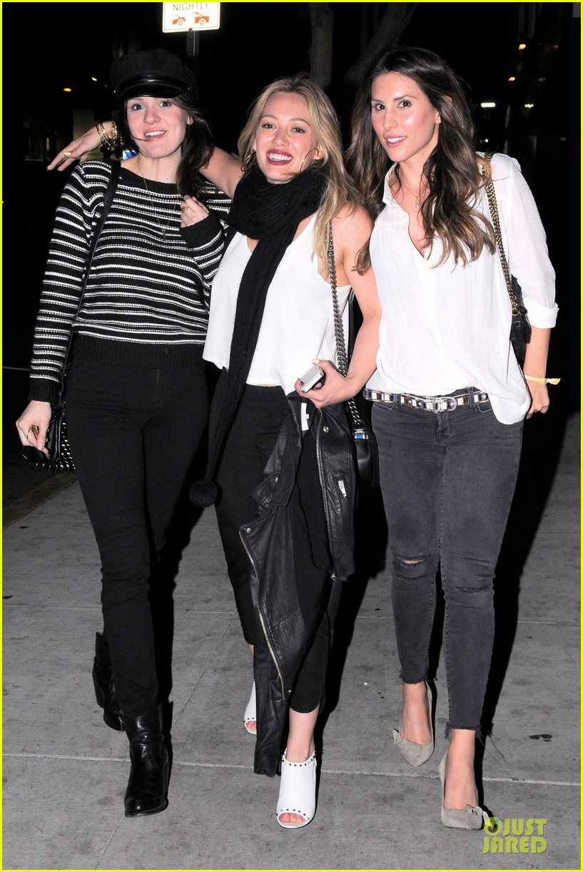hilary duff sports studded heels for girls night 093068134