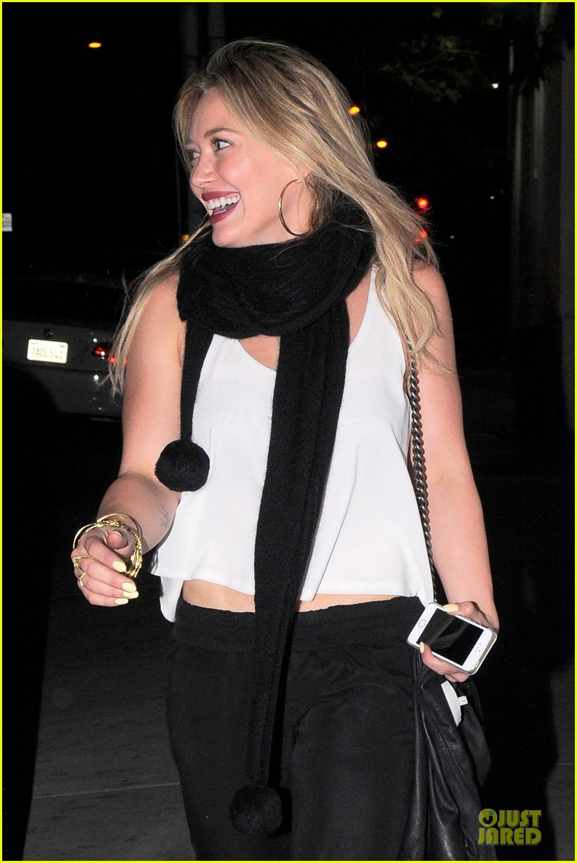 hilary duff sports studded heels for girls night 12