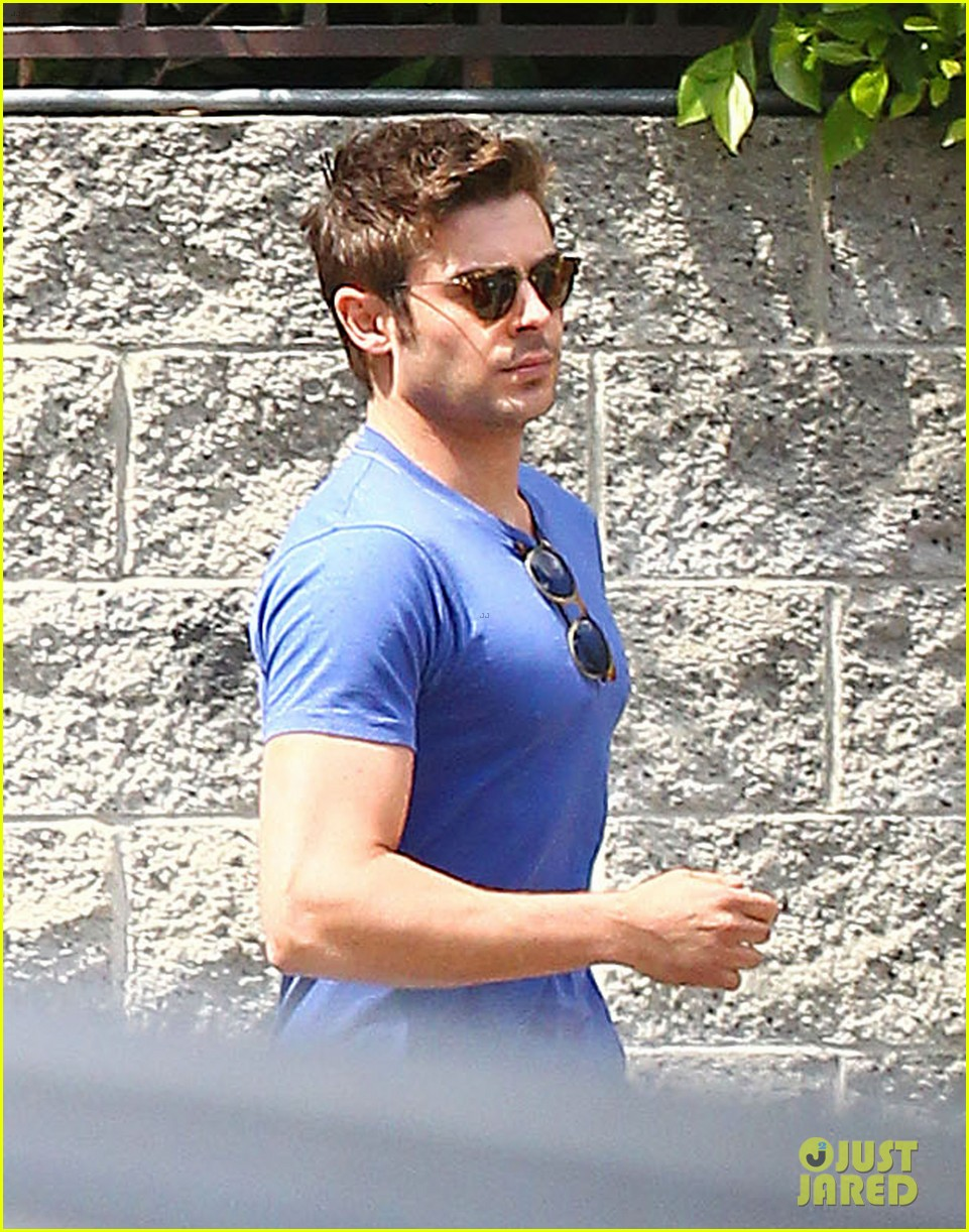 zac efron tight blue shirt 10