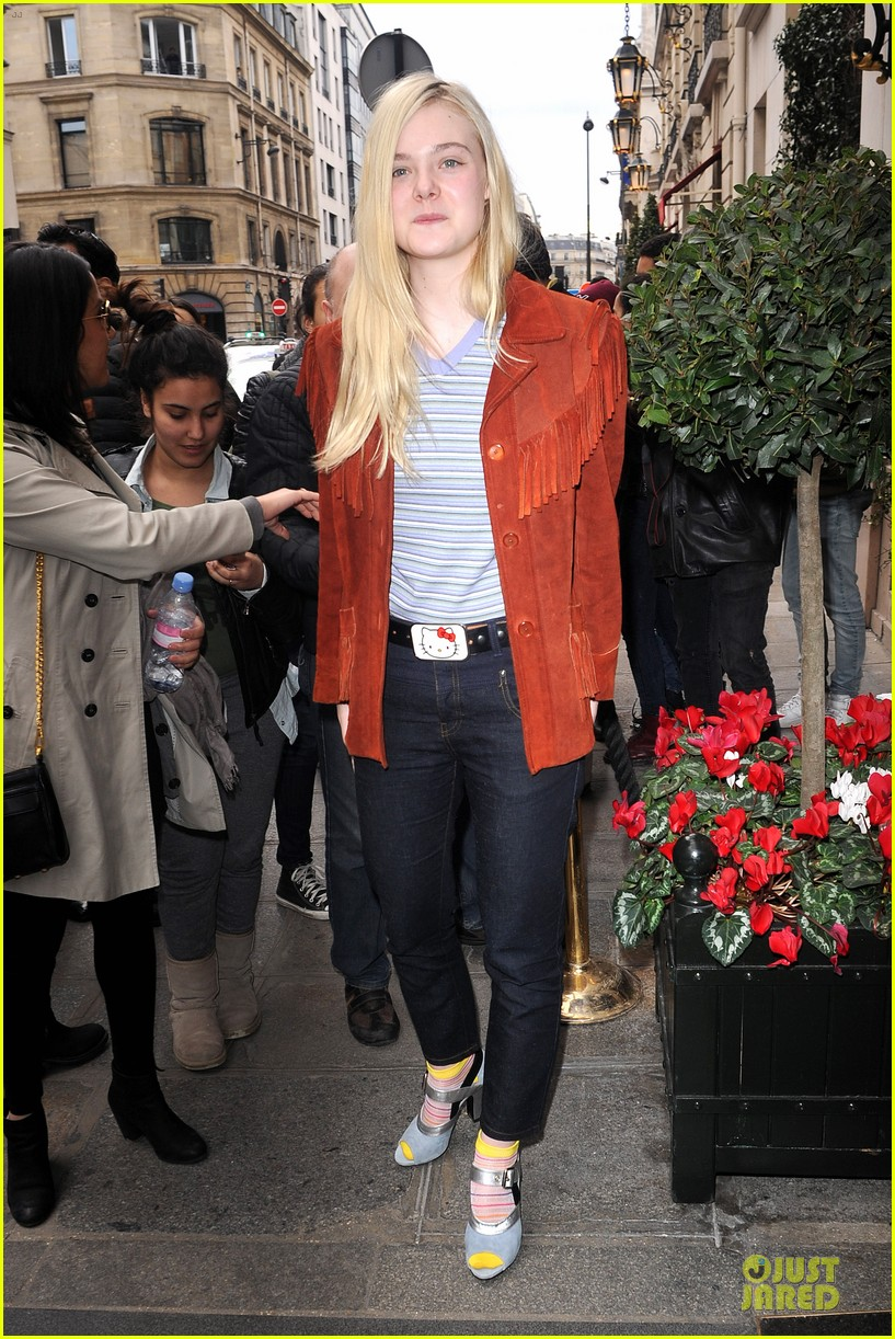 elle fanning makes a fringe fashion statement in france 013066097
