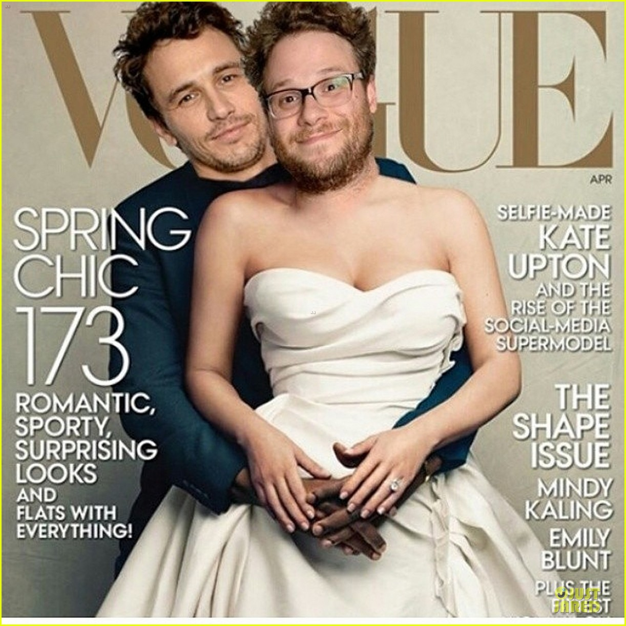 james franco seth rogen spoof vogue 013076487