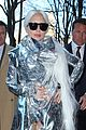 lady gaga shines in silver foil outfit 08