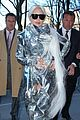 lady gaga shines in silver foil outfit 09