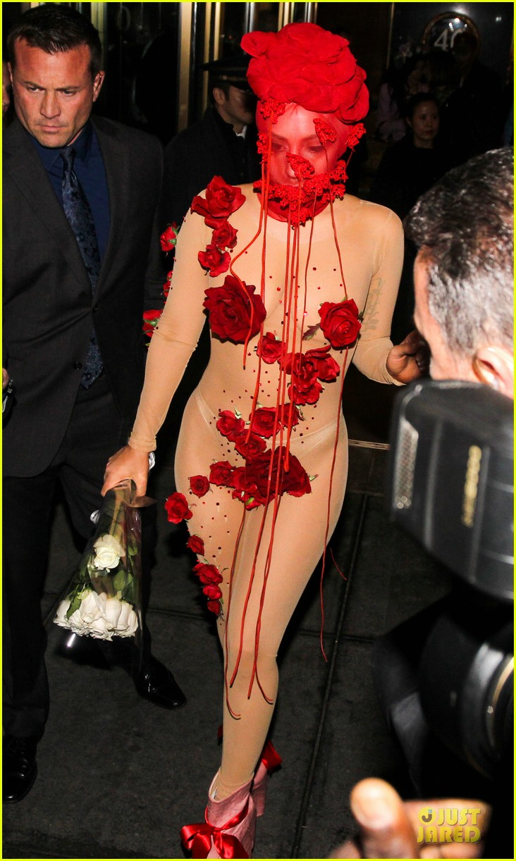 lady gaga rose inspired outfit 23