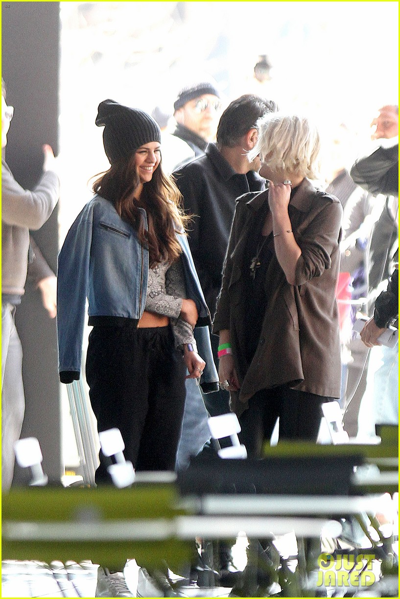 selena gomez films adidas ad in nyc 11