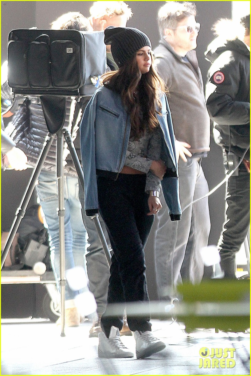 selena gomez films adidas ad in nyc 223069897