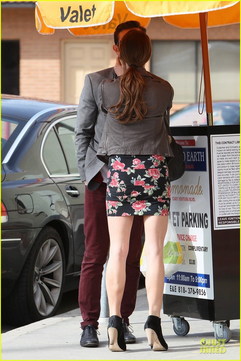 ashley greene paul khoury go in for a kiss after lunch 17
