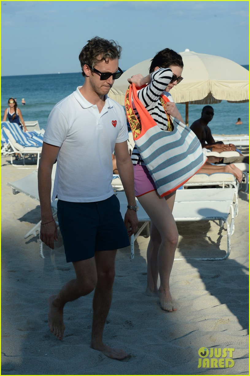 anne hathaway heads back for more beach fun in miami 15