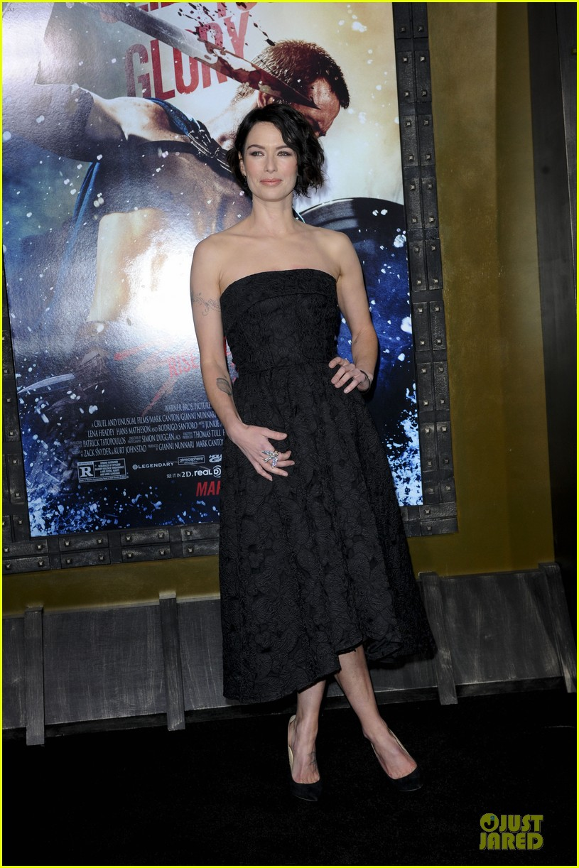 lena headey shows tattoos at 300 premiere with eva green 133066287