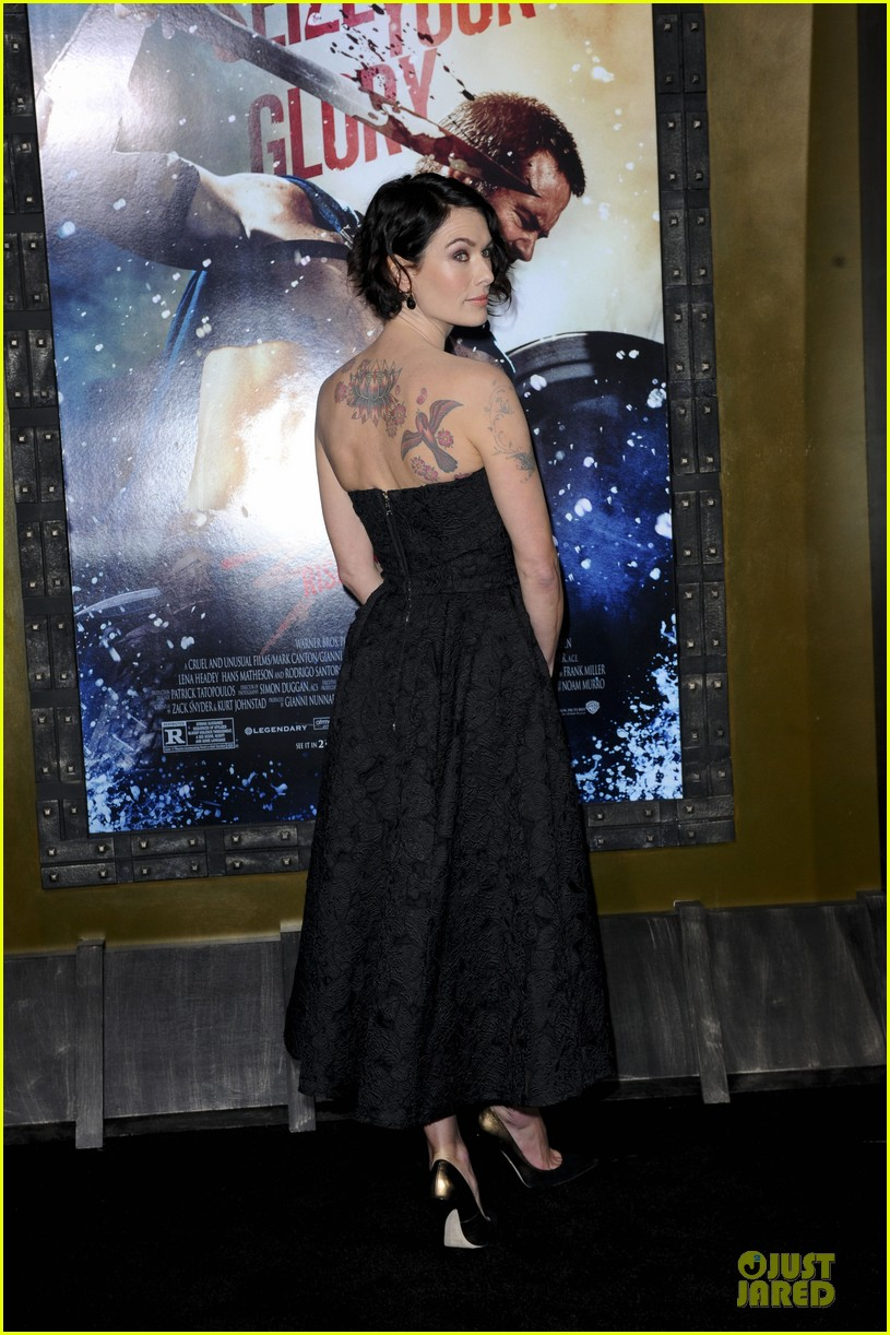 lena headey shows tattoos at 300 premiere with eva green 15