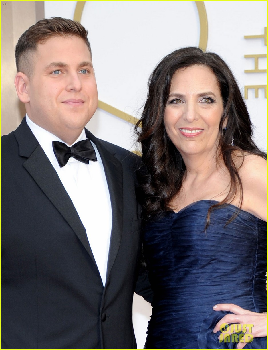jonah hill brought his mom sharon to the oscars 2014 013064239