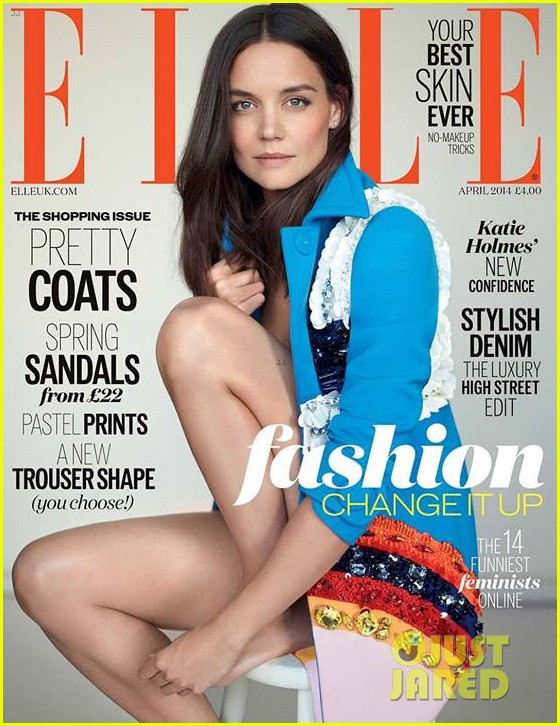 katie holmes looks flawless on elle uk april 2014