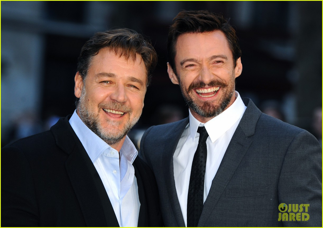hugh jackman supports russell crowe noah uk premiere 173082427