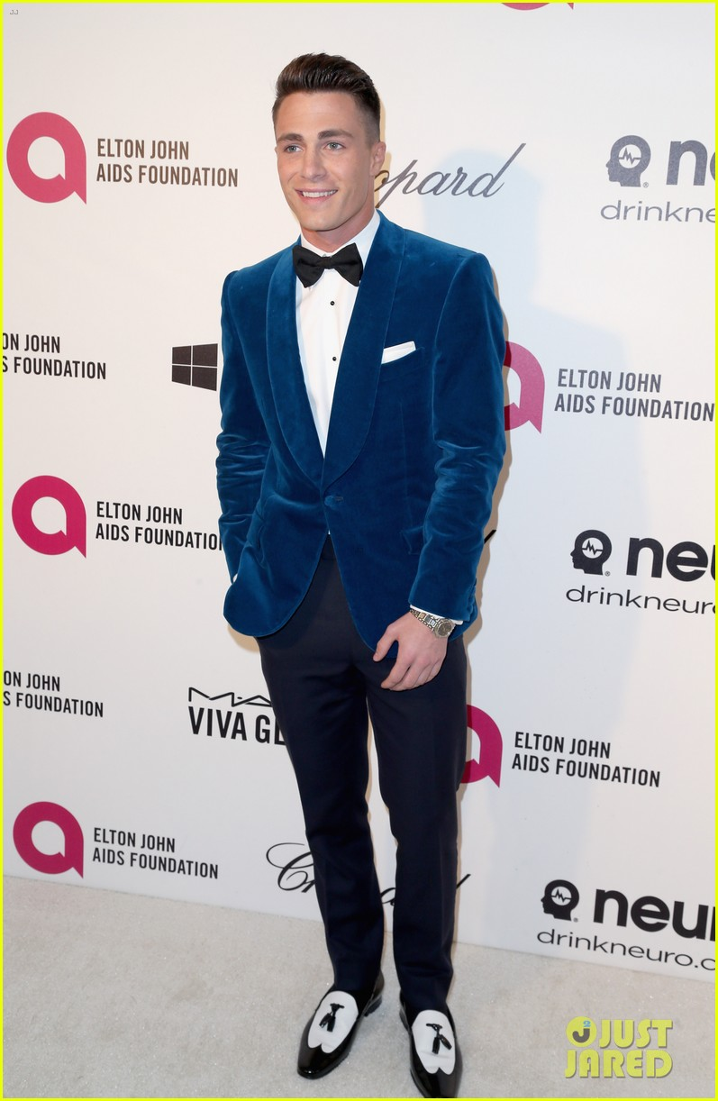joe jonas colton haynes elton john oscars party 2014 05