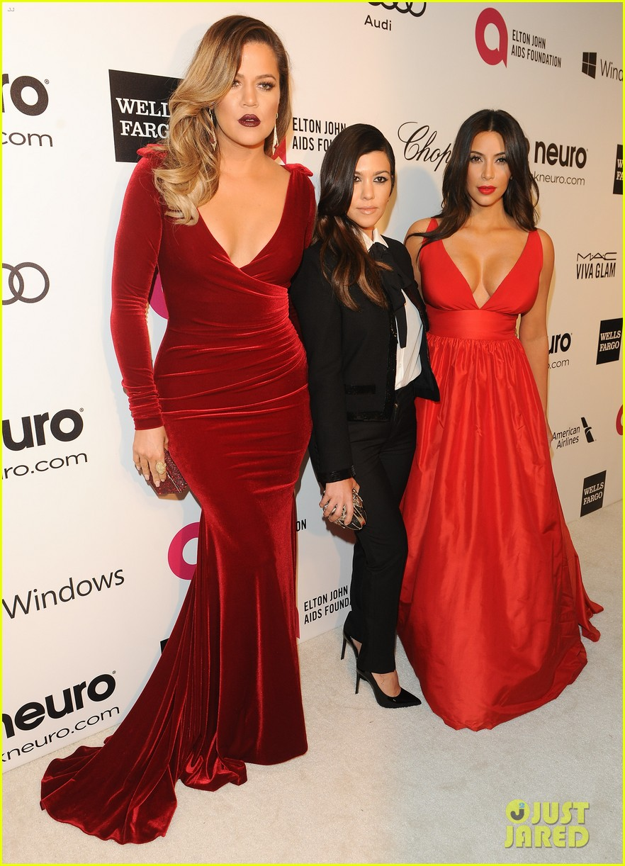kardashian sisters kris jenner elton john oscars party 2014 133064815
