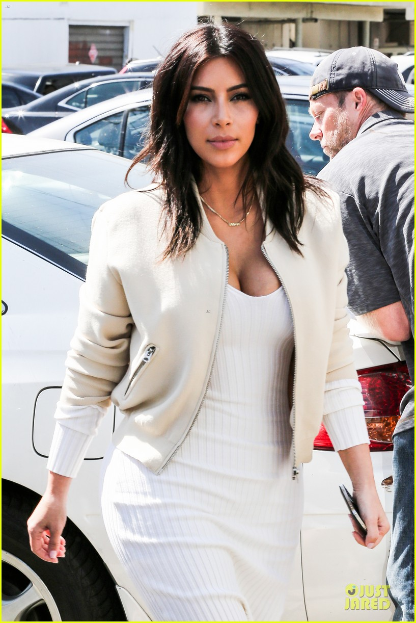 kim kardashian gets ready for summer with white dress 06