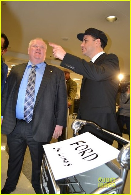 jimmy kimmel picks up toronto mayer rob ford at lax airport 023063214