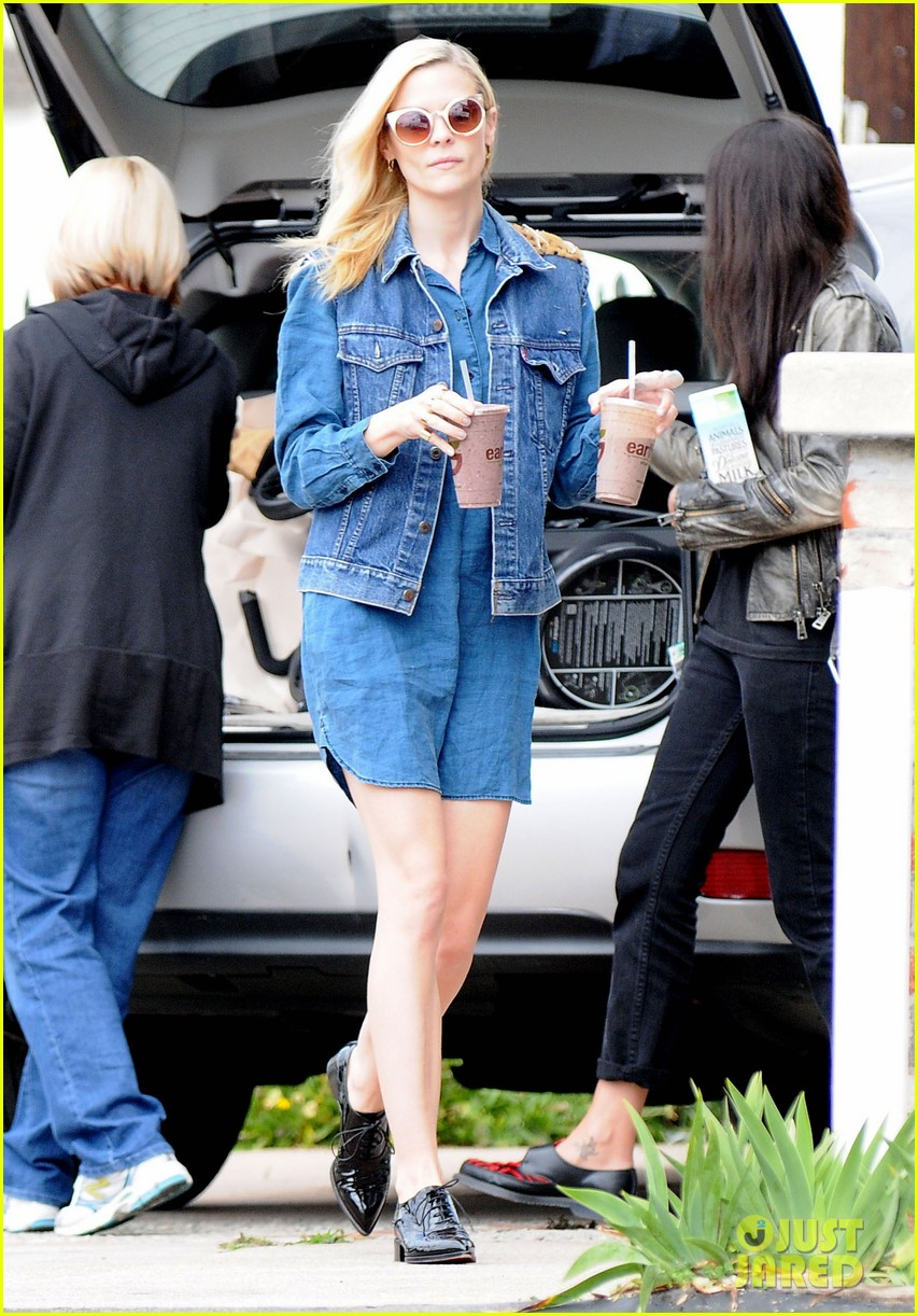 jaime king goes for an all denim look in weho 093077055