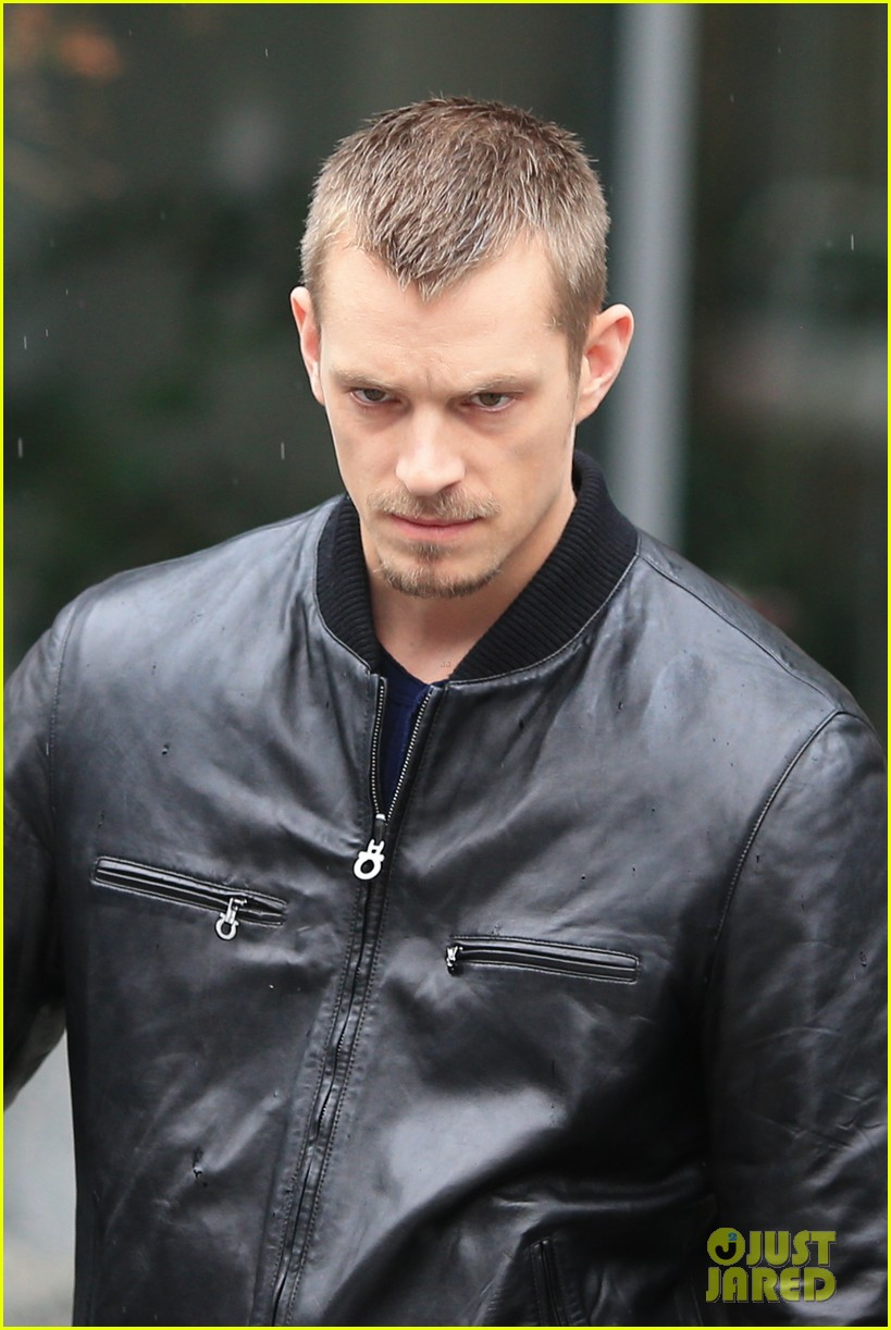 joel kinnaman looks leather jacket cool on the killing set 063067862