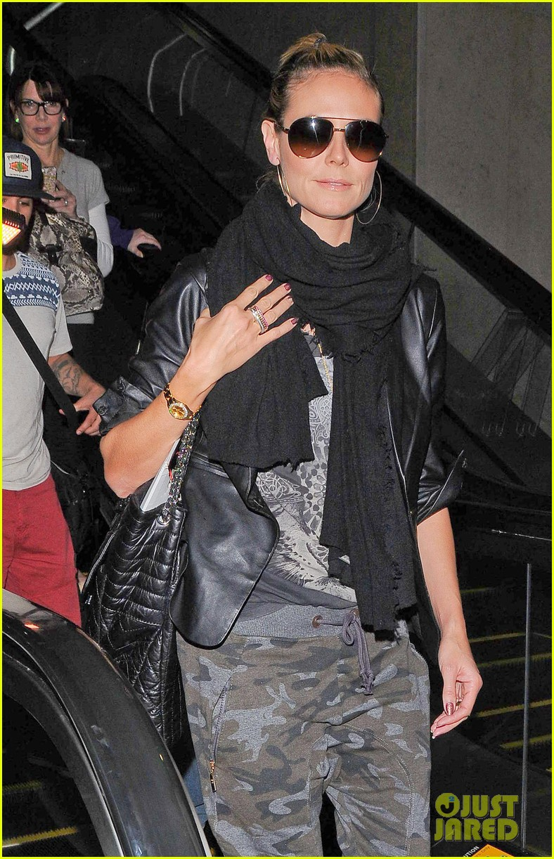 heidi klum cant hide good looks camouflage 043074941
