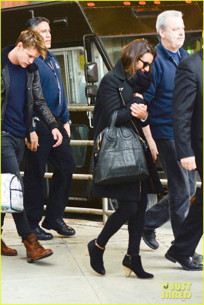 lea michele chord overstreet arrive in new york 093070747