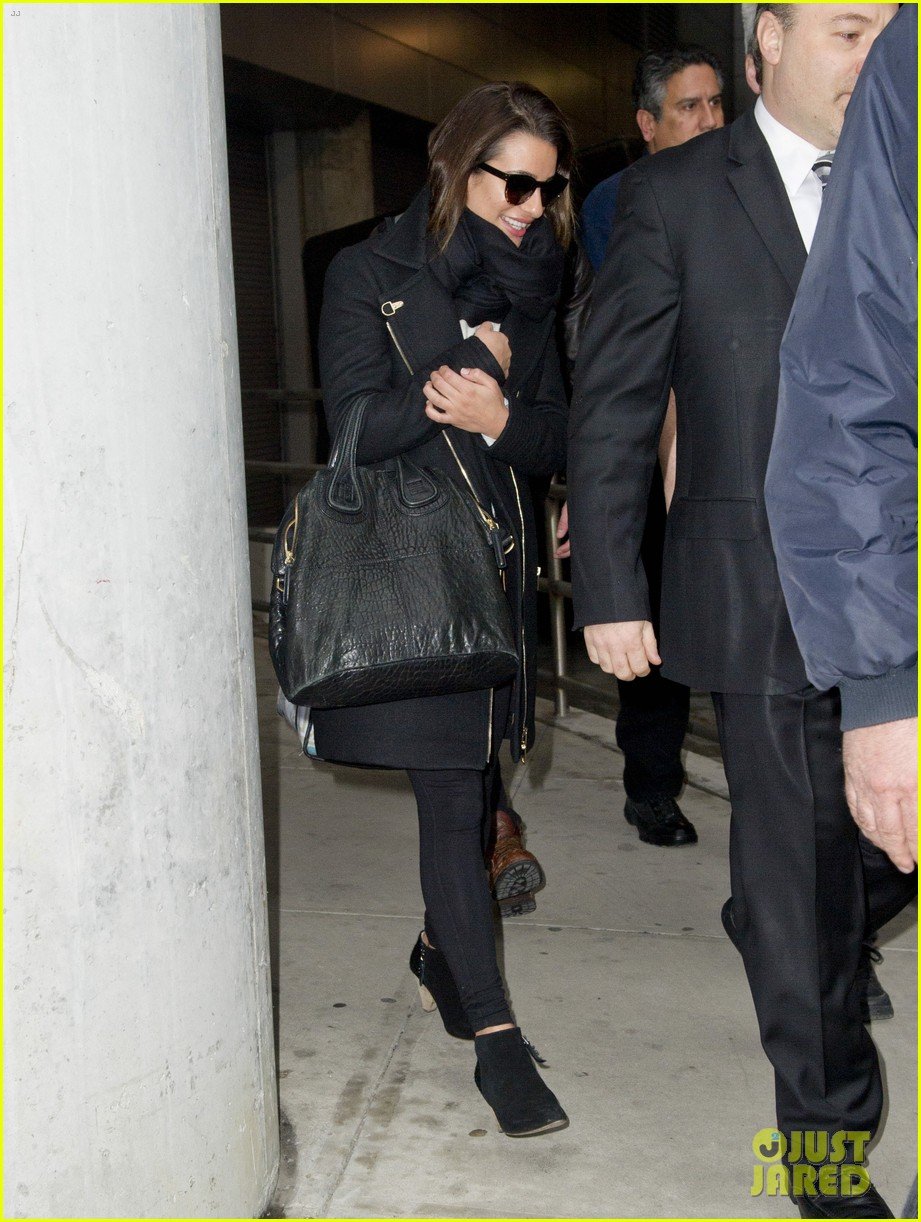 lea michele chord overstreet arrive in new york 12