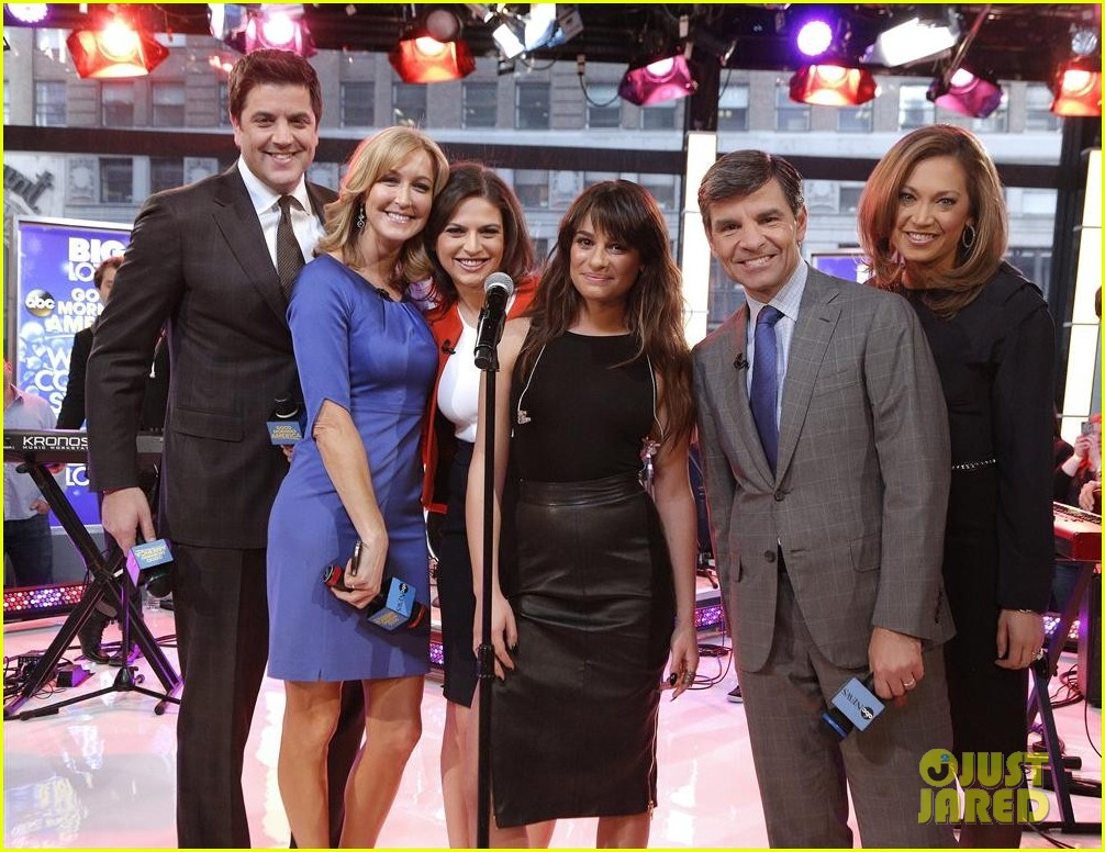 lea michele brings louder to good morning america 04