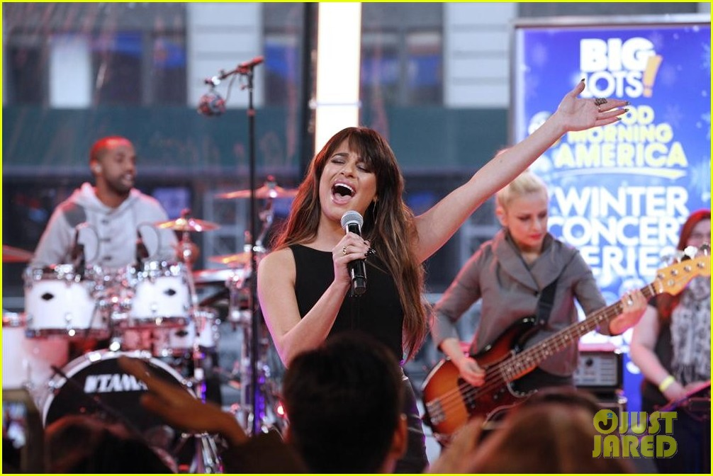 lea michele brings louder to good morning america 063066515