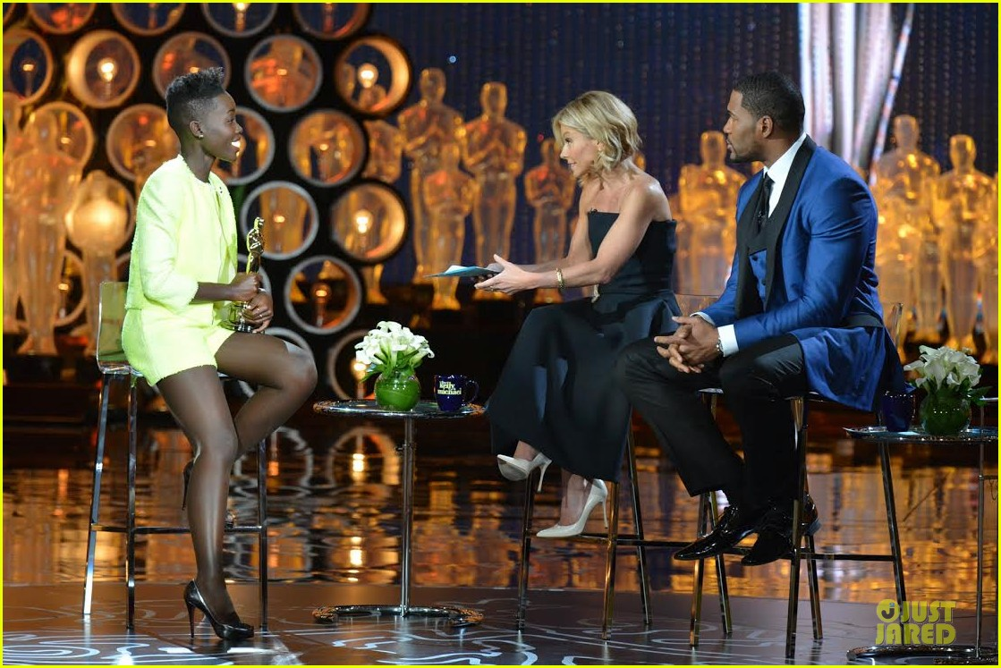 lupita nyongo talks oscar win with live with kelly michael 013065007