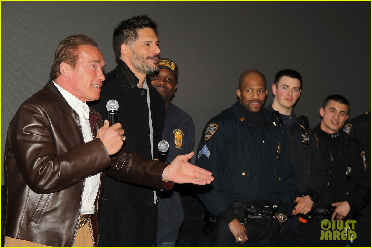 joe manganiello arnold schwarzenegger surprise nyc law enforcement 11