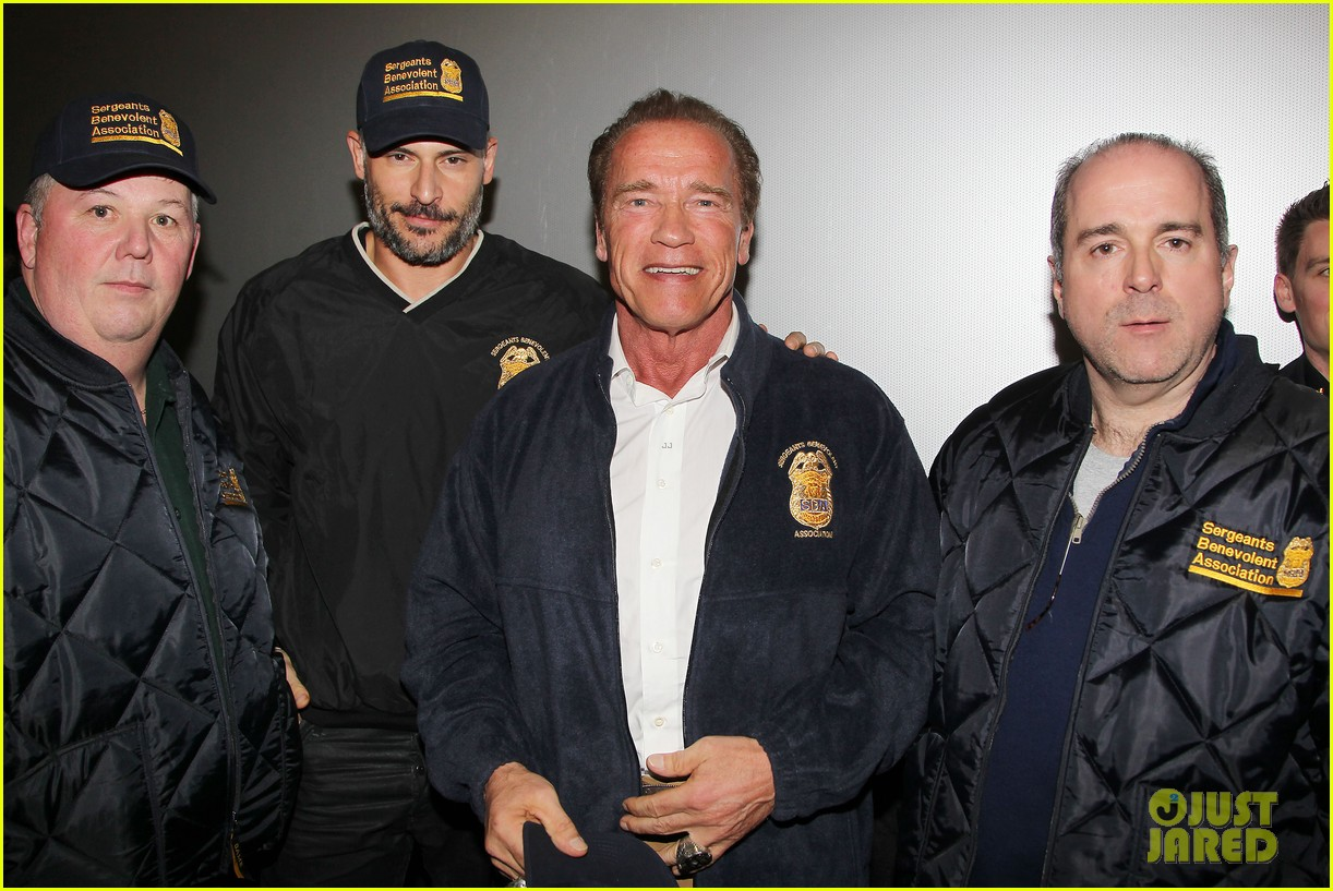 joe manganiello arnold schwarzenegger surprise nyc law enforcement 163077436