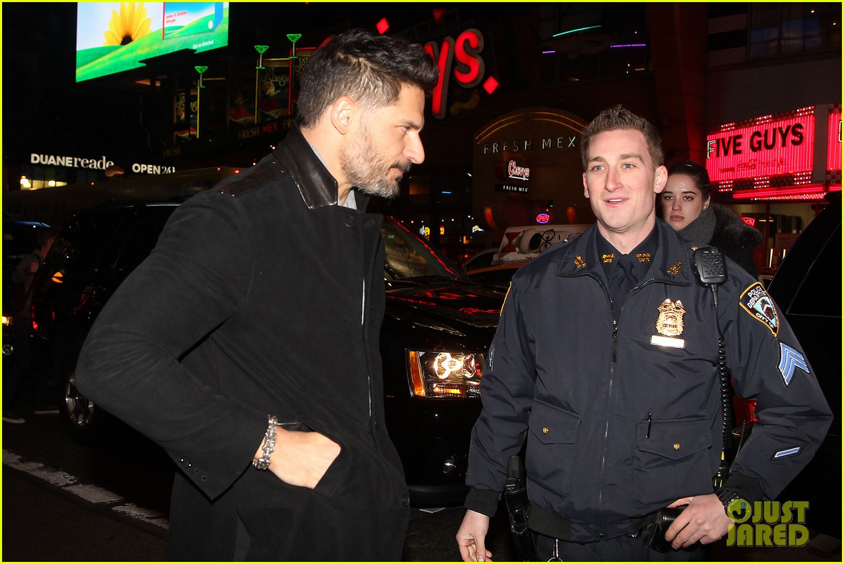 joe manganiello arnold schwarzenegger surprise nyc law enforcement 243077444