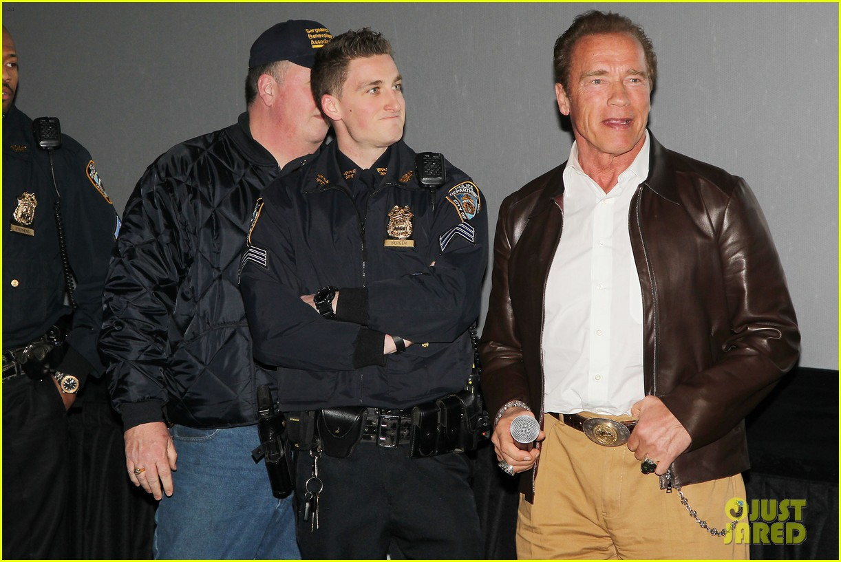 joe manganiello arnold schwarzenegger surprise nyc law enforcement 26