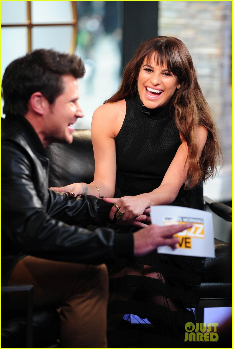 lea michele big morning buzz with nick lachey 033066941