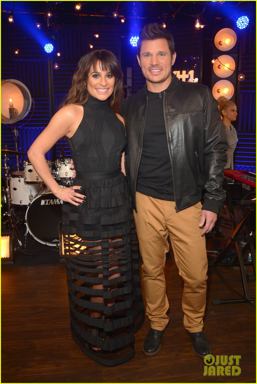 lea michele big morning buzz with nick lachey 05