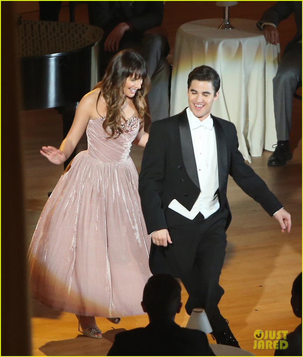 lea michele darren criss classic broadway number glee 123079881