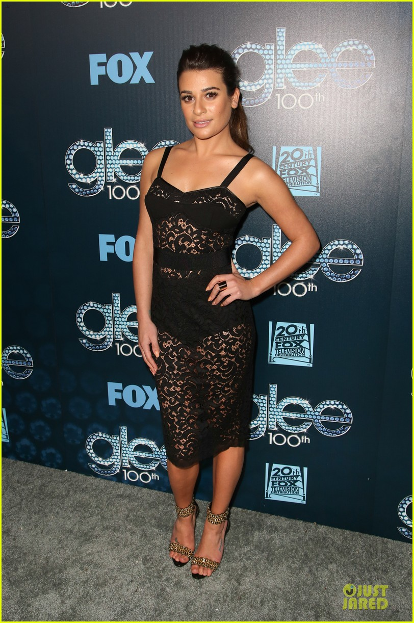 lea michele show off their assets at glee 01