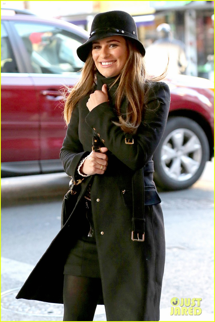 lea michele switches outfits around glee nyc 143071445