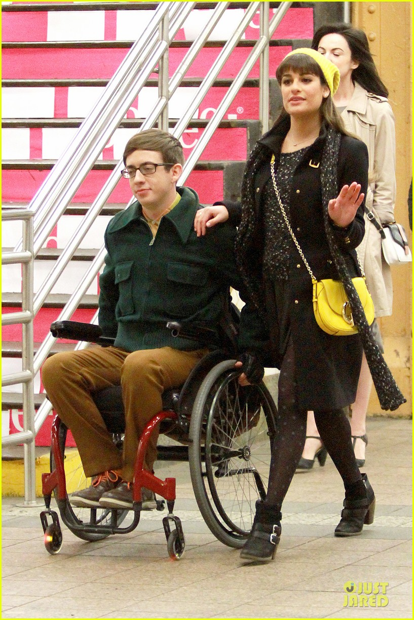 lea michele kevin mchale take glee underground in nyc 01
