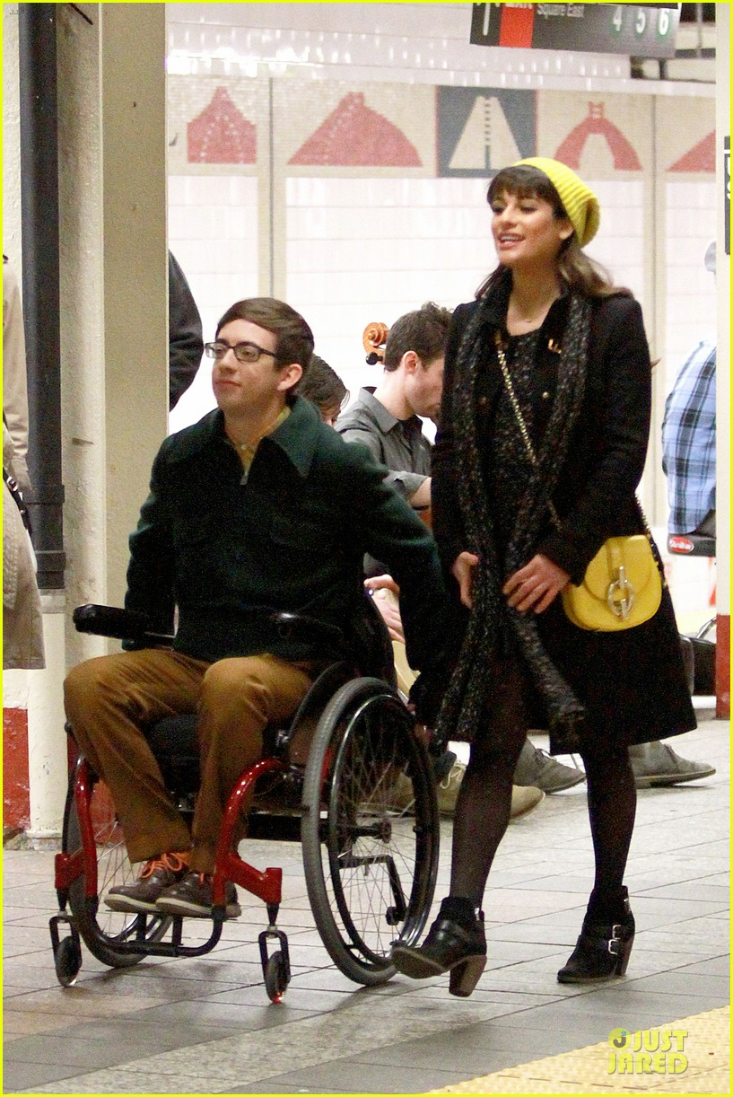 lea michele kevin mchale take glee underground in nyc 12