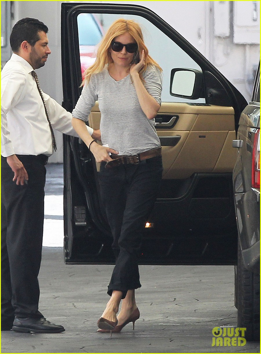 sienna miller sports red hair for busy beverly hills afternoon 03